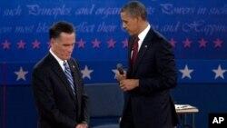 Митт Ромни и Барак Обама. Второй тур дебатов