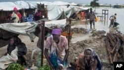 Des déplacées sud-soudanaises réfugiées à Bentu, dans le complexe de la mission des Nations Unies au Soudan du Sud (Minuss) lundi 22 septembre 2014.
