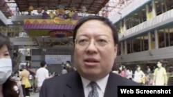 香港中华能源基金会秘书长何志平(视频截图)