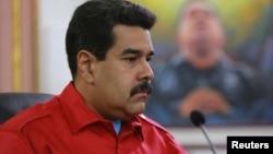 """""""Fuimos testigos de una emboscada contra un soldado de la patria que está en servicio diplomático"""", dijo Maduro."""