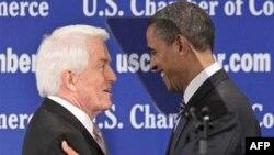 Predsednik američke Trgovinske komore Tomas Donahju i predsednik SAD Barak Obama
