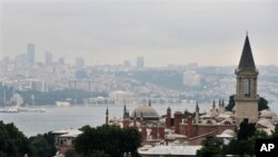 The Ottoman-era Topkapi Palace, foreground, one of landmarks of Turkey's largest city and the country's cultural and economic capital, Istanbul (file photo)