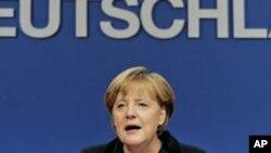 당원 연석 회의에 참석한 메르켈 독일 총리