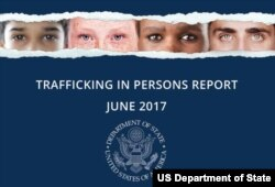 FILE - The U.S. State Department's annual Trafficking in Persons report, June 2017.