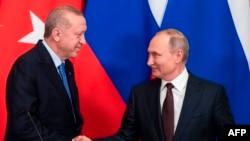 Vladimir Putin û Recep Tayyip Erdogan