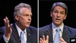 Kandidat gubernur Virginia dari Demokrat, Terry McAuliffe (kiri) dan Ken Cuccinelli dari partai Republik (Foto: dok).