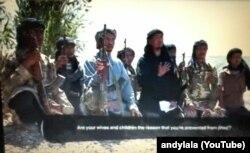 İŞİD-in təbliğat videosundan bir kadr