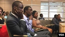 Some of the Mandela Washington fellow wrapping up their program at William and Mary University in Virginia, USA.