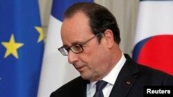 Le président français François Hollande à l'Elysée à Paris, France, 3 juin, 2016.