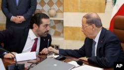 Başbakan Saad Hariri ve Cumhurbaşkanı Michel Aoun
