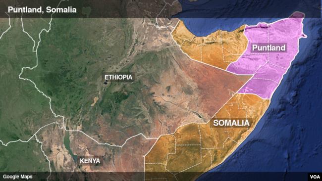 Puntland, Somalia. The region of Bari is the tip of Puntland.