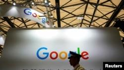 2018年8月3日在上海舉行的中國數字娛樂博覽會(ChinaJoy)上,有谷歌的標識。