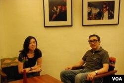 一年前移民台灣的港人夫婦陳偉民及彭嘉琪,擔心台灣會步香港後塵