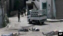 تصویر که توسط «شهروند - روزنامه نگار»ان سوریه منتشر شده
