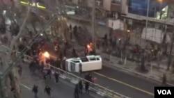 Iran protest Tehran اعتراضات ایران