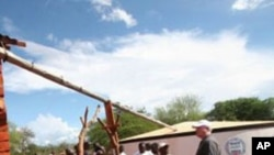 苏丹总统巴希尔2月7日在总统府的照片 (左边带帽子的)