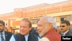 Narendra Modi e Nawaz Sharif, 25 de Dezembro, 2015.