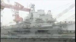 中国第一艘航母正式入列海军