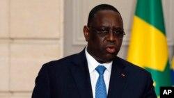 Le president sénégalais Macky Sall à Paris, France, 12 juin 2017.