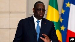 Le président du Sénégal Macky Sénégal, 12 juin 2017.