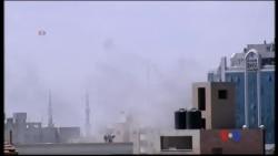 2014-08-03 美國之音視頻新聞: 以色列星期日繼續炮擊加沙地帶