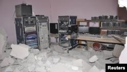 Разрушеный офис спутникового телеканала «Аль-Икбария»