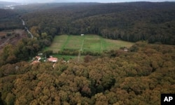 An aerial view of the Belgrad Forest on the outskirts of Istanbul, Oct. 19, 2018. The forest is being searched for possible remains of missing Saudi journalist Jamal Khashoggi.