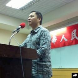 王丹在开学典礼上讲话