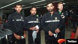 بگلہ دیش ٹیم پاکستان روانگی سے قبل مقامی ائیرپورٹ پر موجود ہے