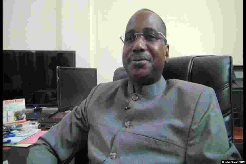 Boube Ibrahim, président de la Commission électorale nationale indépendante, Niamey, 17 février 2016 (VOA/NIcolas Pinault)