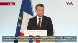 Macron: 'Yorumumun Arkasındayım Ama Çavuşoğlu'nun Sözleri Memnun Etti'