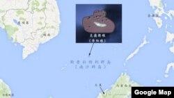 斯普拉特利群岛的克德朗礁(中国称南沙群岛华阳礁)的地理位置