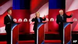 ڈیموکریٹک پارٹی کے تازہ ترین مباحثے میں شریک امیدوار۔