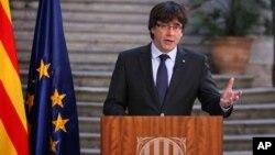 Колишній лідер Каталонії Карлес Пучдемон (28 жовтня)