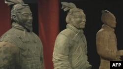 国家地理博物馆展出的兵马俑