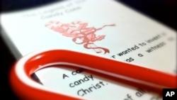 附有基督教信息的拐棍糖铅笔
