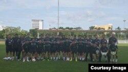 اعضای تیم ملی فوتبال افغانستان در رقابت با جاپان