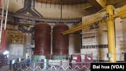 俄罗斯新沃罗涅日核电站内部,与田湾核电站前四台机组都采用相同的核反应堆。
