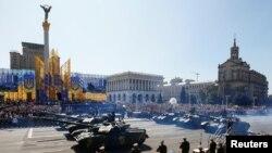 Военный парад в Киеве по случаю Дня независимости Украины. 24 августа 2018 г.