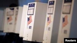 美國4月19日在紐約一個初選投票站。