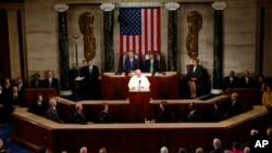 羅馬天主教教宗方濟各﹐於星期四對國會參眾聯席會議發表演說。
