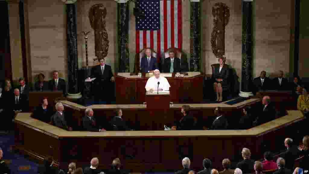 Pope Fransic address in Congress.