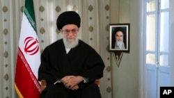 , Iranian supreme leader Ayatollah Ali Khamenei delivers a message for the Iranian New Year in Tehran, March 20, 2012.