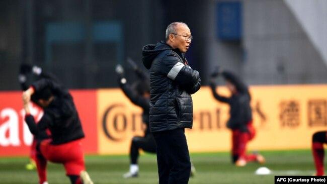 Huấn luyện viên Park Hang-seo của đội U23 Việt Nam.