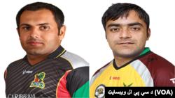 راشد خان و محمد نبی، دو بازیکن تیم ملی کرکت افغانستان در لیگ برتر کرکت هند