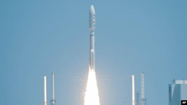 The Juno spacecraft launched aboard an Atlas V rocket from Space Launch Complex 41 at Cape Canaveral Air Force Station in Florida on Friday, Aug. 5, 2011