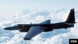 Pesawat pengintai Amerika U-2 yang juga dikenal sebagai 'Dragon Lady'.