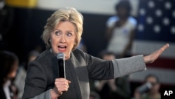 Democartic presidential candidate Hillary Clinton speaks during a campaign event April 5, 2016, in New York City. Clinton would beat Trump 51 to 40 percent if the general election were held now, according to a recent poll.