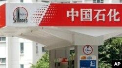 中石化加油站。中国输入俄罗斯石油
