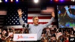 前佛羅里達州州長杰布布殊星期一宣佈2016年競選總統。